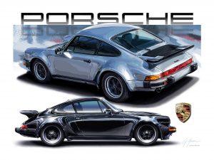 PORSCHE 911 Turbo Silver WHITE